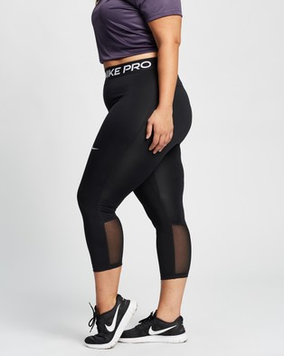 Nike Plus Pro Cropped Leggings - all compression (Black & White)