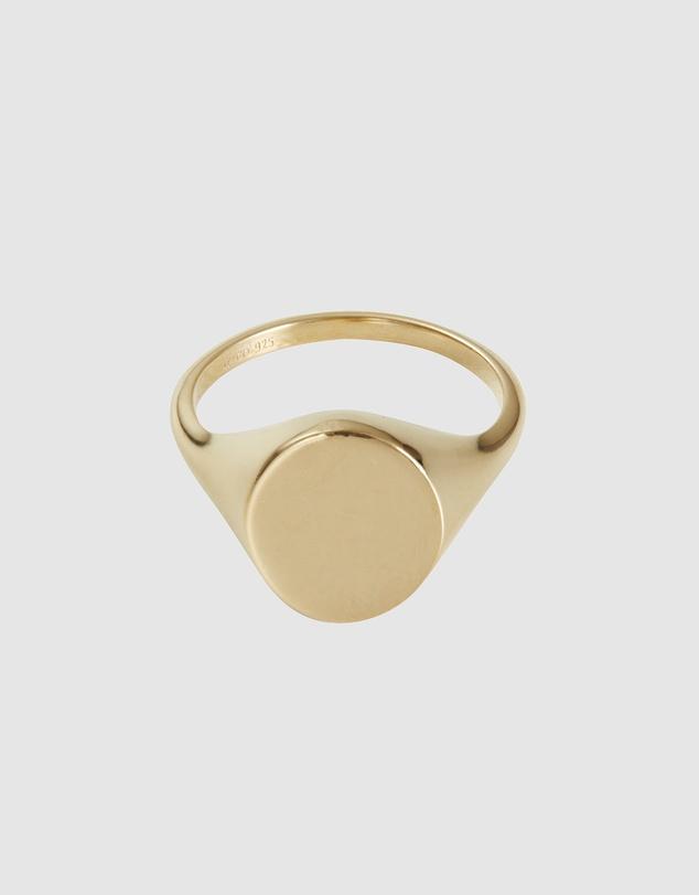 Women 14K Gold Vermeil Signet Ring