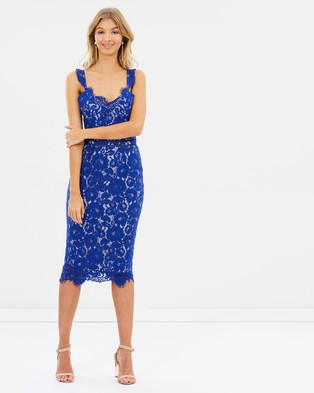 Atmos & Here – Millie Lace Dress Cobalt Blue