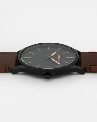 DUKUDU Xander 45mm - Watches (Black - Tan)