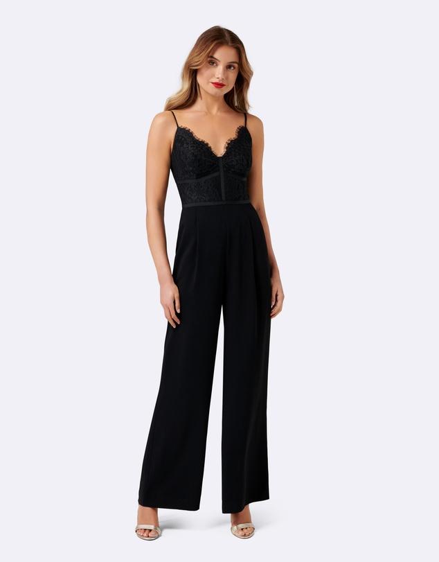 74f5b04dbb9e Petite Celine Lace Bodice Jumpsuit by Forever New Online