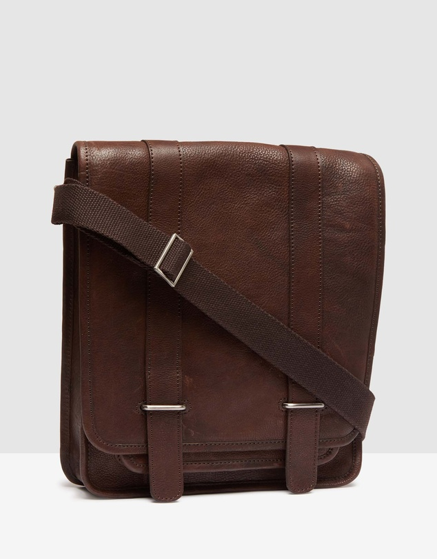 Enzo Leather Messenger Bag by Oxford