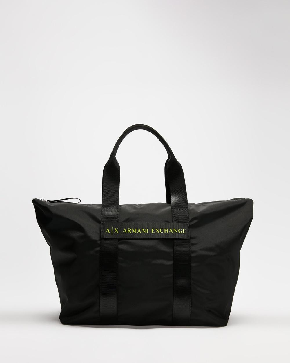 Armani Exchange Medium Shopper Bags Black