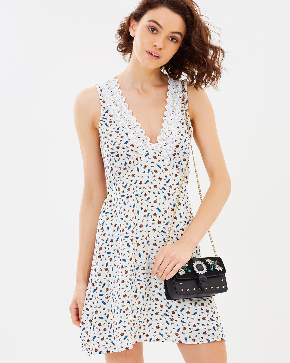 Dazie Infinite Horizons Dress Printed Dresses White Floral Infinite Horizons Dress