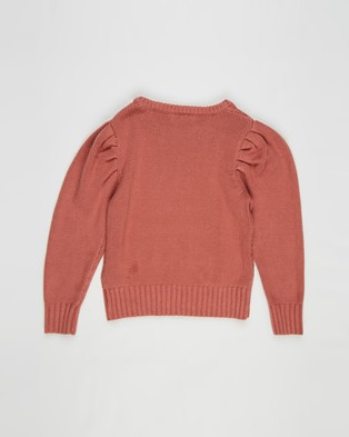 Cotton On Kids Darby Puff Sleeve Knit Jumper   Kids - Jumpers & Cardigans (Chutney)