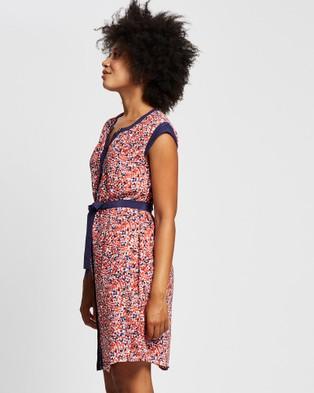 Marcs Painted Pebbles Dress - Printed Dresses (Pink Multi)