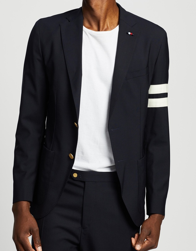 Tommy Hilfiger - Fashion Slim Suit Blazer with Stripes