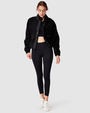Cotton On Body Active Warm Up Sherpa Bomber - Coats & Jackets (Black)