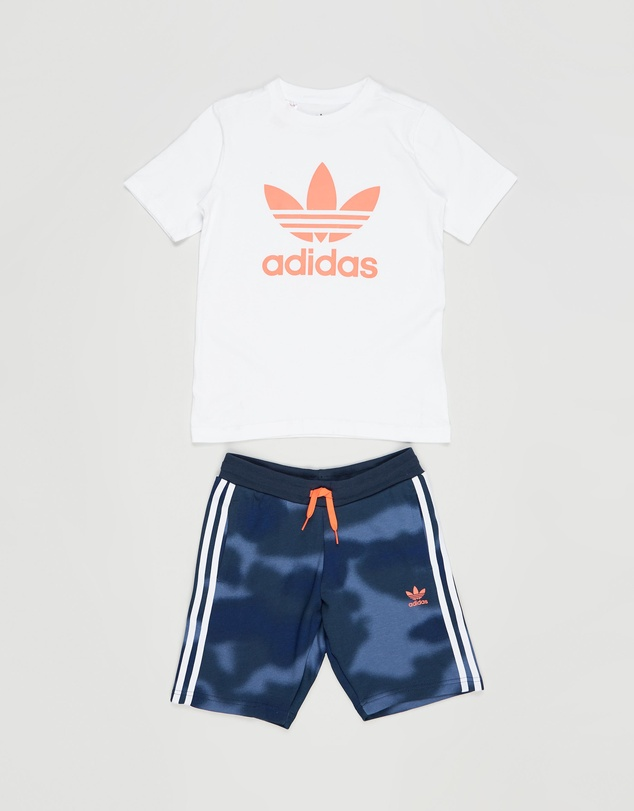adidas Originals - Camo Print Shorts and Tee Set - Kids