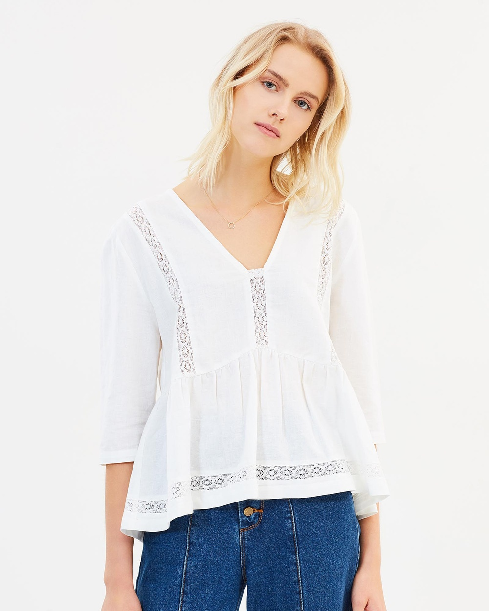 Ryder Emilia Linen Top Tops Off White Emilia Linen Top