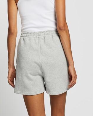 AERE Organic Cotton Comfort Sweat Shorts - High-Waisted (Grey Marle)