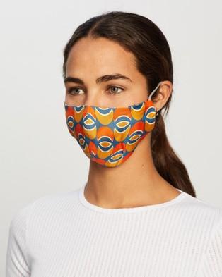 Grace Willow 3 Pack Non Medical Silk Face Masks - Face Masks (Orange Multi)
