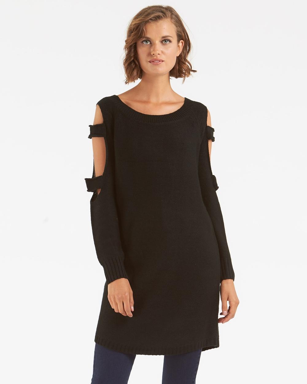 Amelius Harper Knit Dress Tops Black Harper Knit Dress