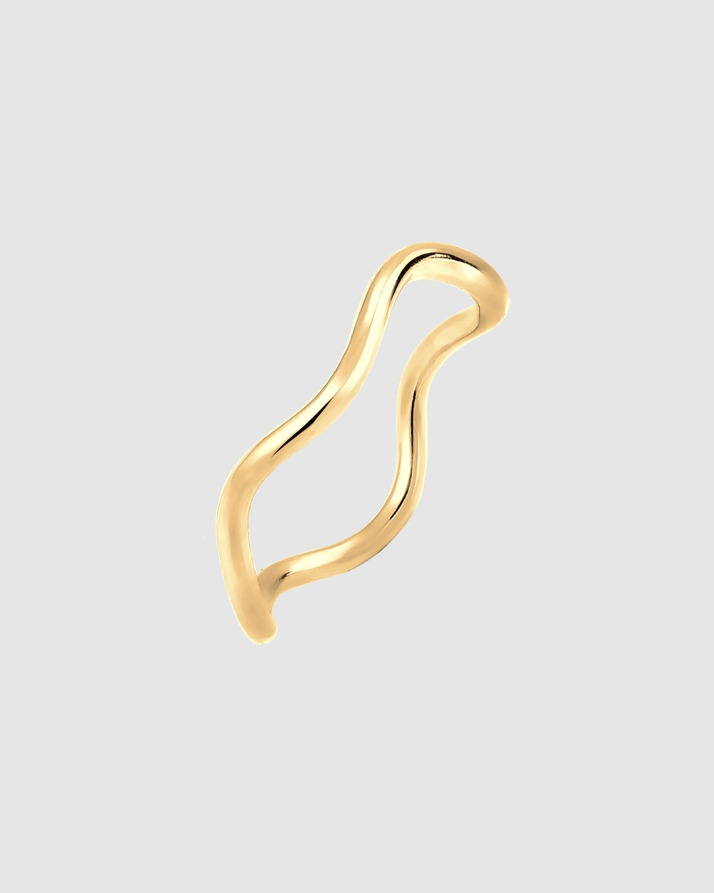 Elli Jewelry Ring Waves Geo 925 Sterling Silver Gold Plated Jewellery Gold
