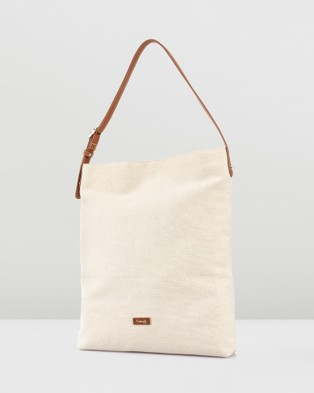 Lipault Paris Novelty Collection Linen Tote Bag - Bags (White)