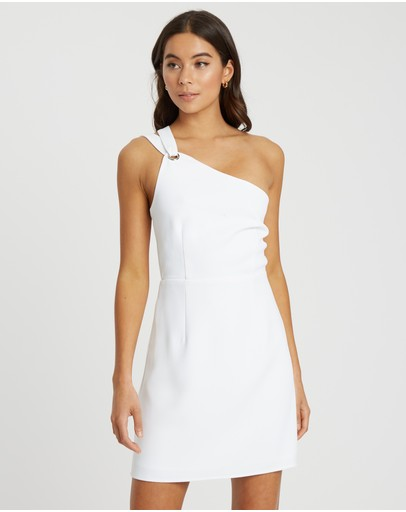 Calli Monica Eyelet Mini Dress White