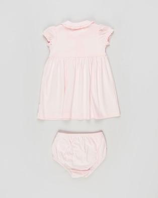 Polo Ralph Lauren Ruffled Dress & Bloomer Set   Babies - Dresses (Delicate Pink)