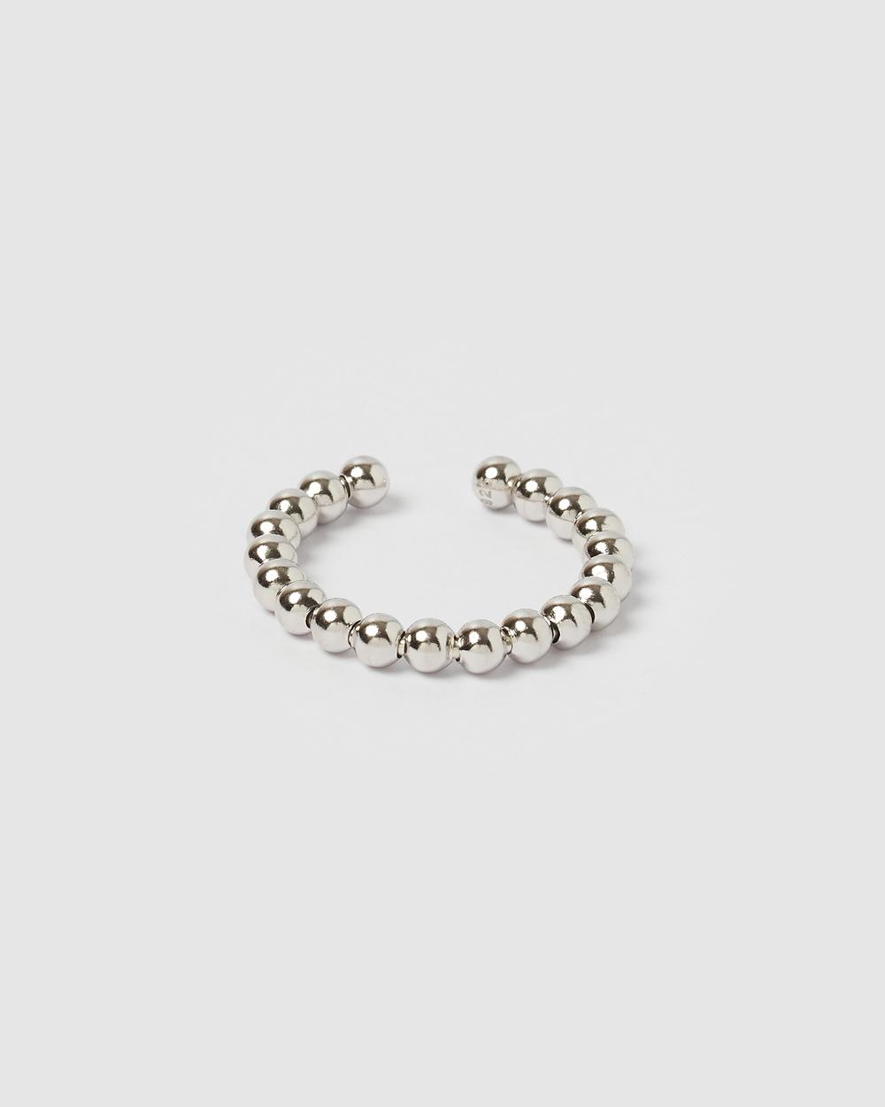 Izoa Donna Beaded Ring Jewellery Silver
