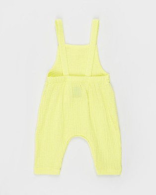 Kip&Co Cheesecloth Overalls   Babies - Sleeveless (Lemon Pie)