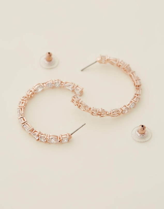 Women Tennis Hoop Earrings