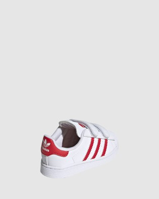 adidas Originals Superstar Heart Self Fastening Infant - Sneakers (White/Red)
