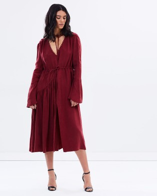 Eclect – Montana Dress Burgundy
