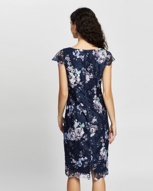 Review Violet Blossom Lace Dress - Dresses (Navy Multi)