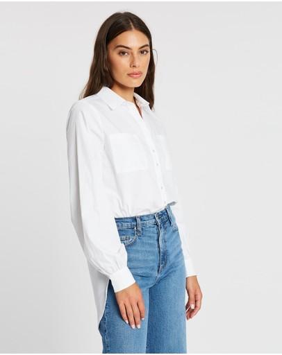 Atmos&here Montana Oversized Shirt White