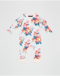 Rock Your Baby - Antique Chintz LS Playsuit - Babies