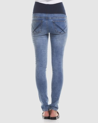 Soon Maternity Overbelly Skinny Jeans - High-Waisted (Light)