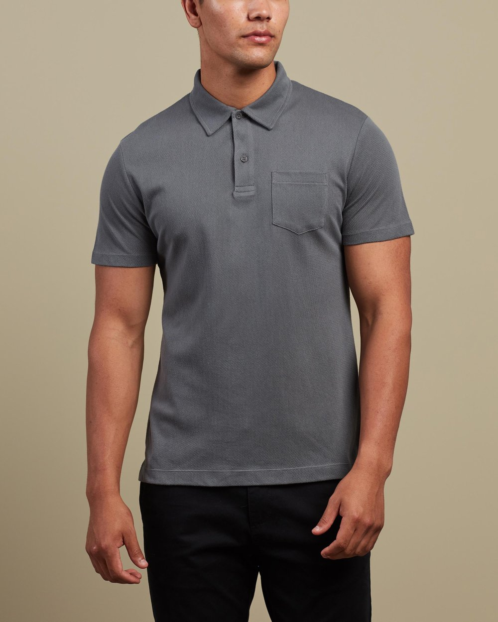 SUNSPEL RIVIERA SHORT SLEEVED COTTON POLO SHIRT IN BLACK ALL SIZES RRP £85