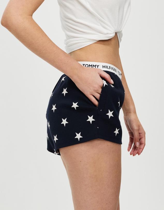 Women Tommy 85 Print Track Shorts