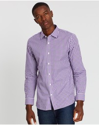 Kent and Curwen - Long Sleeve Stripes Shirt
