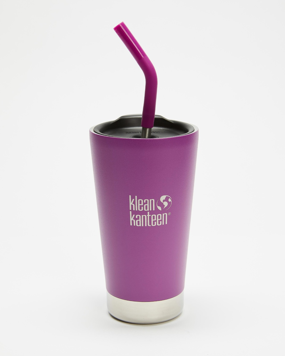 Klean Kanteen 16oz Insulated Tumbler with Straw Lid Water Bottles Berry Bright