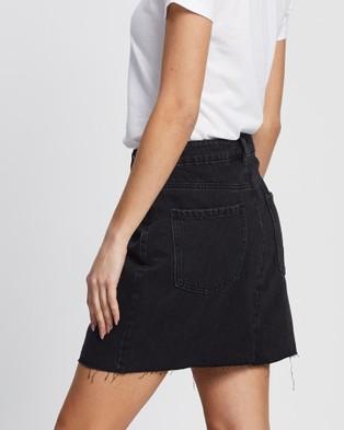 All About Eve Shea Split Denim Skirt - Denim skirts (WASHED BLACK)