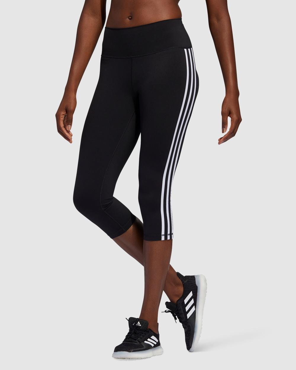 adidas Performance Believe This 2.0 3 Stripes 4 Tights Sports Black 3-Stripes 3-4