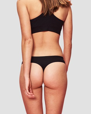 Organic Basics SilverTech Everyday Thong 2 Pack - Thongs & G-Strings (Black)