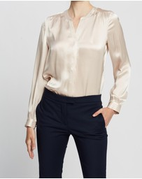 David Lawrence - Silk Satin Blouse