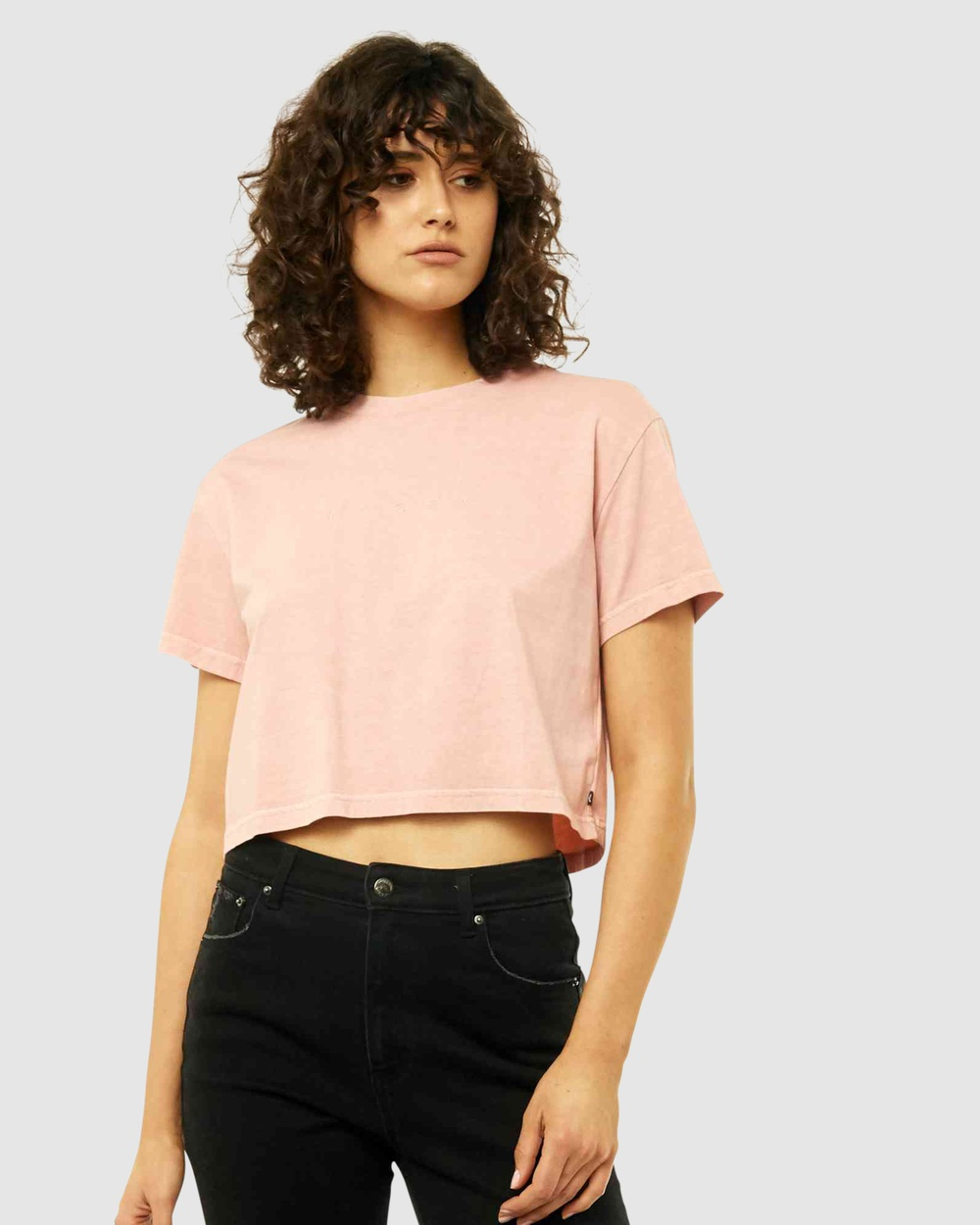 Rusty Essentials Ember Crop Tee Short Sleeve T-Shirts RSC Australia