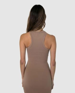 BY.DYLN Asher Dress Dresses Tan