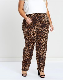 Atmos&Here Curvy - Olivia Woven Soft Jogger Pants