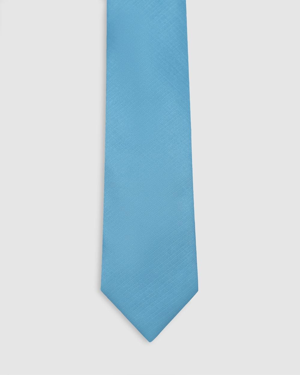 Buckle Plain Tie and Pocket Square Set Ties Aqua Australia