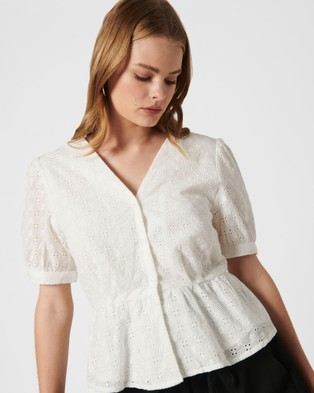 MVN Arbory Lace Top - Tops (White)