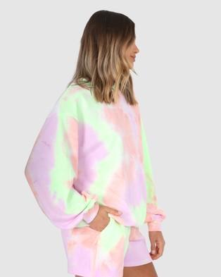 BY.DYLN Xander Sweater - Crew Necks (Lilac Tie Dye)