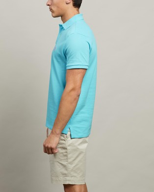 Polo Ralph Lauren ICONIC EXCLUSIVE   Short Sleeve Knit Polo - Shirts & Polos (French Turquoise)