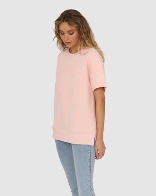 Madison The Label Madison Sweater Tee - T-Shirts & Singlets (Blush)