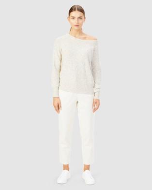 French Connection - Speckled Off Shoulder Knit - Jumpers & Cardigans (ECRU MELANGE) Speckled Off Shoulder Knit