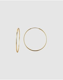 Elli Jewelry - Earrings Creoles Basic Minimal Trend Blogger in 925 Sterling Silver Gold Plated