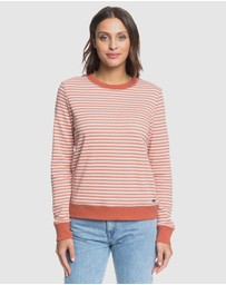 Roxy - Womens First Place Stripe Crew Jumper