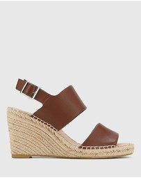 Wittner - Vale Leather Open Toe Espadrille Wedges
